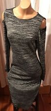 THEA CHELSEA THEADORE Knit Body Con Dress Cut Out Shoulder  Anthropologie Sz S