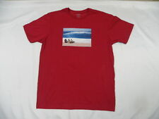 Nixon Men Sand Bar Red Short Sleeve Medium T-Shirts S2457