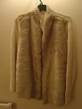 Ladies  Cream Faux Fur Edge to Edge Cardigan with knitted Sleeves BNWTSize 22/24