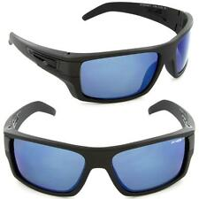 ARNETTE POLARIZED AFTER PARTY MENS SUNGLASSES MATTE BLACK FRAME BLUE MIRROR NEW