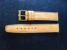 "Omega ""Tan Leather Strap/w. Gold Omega Buckle"" Marked 50 ...."
