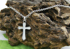 Gatik P1011 Ladies Stainless Steel Mother of Pearl Inlay Cross & 20'' Chain