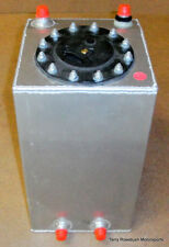 "Aluminum Fuel Cell, 8.0""x 8.0""x 13-1/2"", w/Foam, -8AN Fittings, 3 Gallon,"