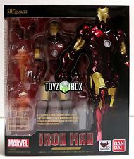 "In STOCK S.H Figuarts ""Iron Man Mark 3"" Bandai Tamashii Action Figure"
