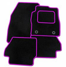 CITROEN C3 2010 ONWARDS BLACK TAILORED CAR MATS WITH PINK TRIM
