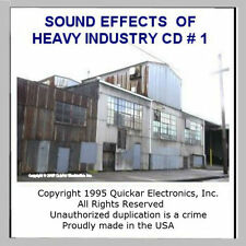 GREAT N SCALE SOUND EFFECTS CD OF HEAVY INDUSTRIES FOR MODEL RAILROADS