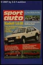 Sport Auto 1/82 Opel Kadett SR Fiat Ritmo Abarth RX 7 + Poster
