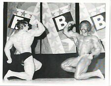 bodybuilder Mike Mentzer Robby Robinson Bodybuilding Muscle Photo B&W