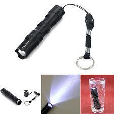 Aluminum Waterproof 3W LED Flashlight Torch Lamp Light Keychain Outdoor Hiking
