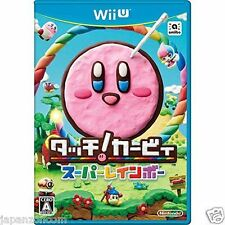 Used Wii U Touch! Kirby Super Rainbow  JAPANESE VERSION IMPORT NINTENDO