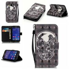 For Samsung Galaxy Core Prime Prevail LTE G360P G360 W/Strap Wallet Leather case
