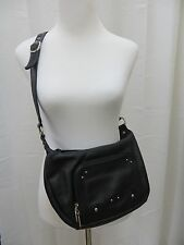 STONE & CO Beautiful Black Leather  Man Made Trim Classic Shoulder Bag New