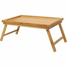 Bamboo Lap Tray Breakfast Tray Laptop Desk Floor Dining Study Table Folding Legs