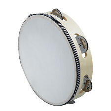 """8"""" Musical Tambourine Drum Round Percussion Gift for KTV Party CP"""