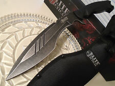 Elite Tactical Black Wash Military Kukri Machete Knife 7mm Full Tang 8Cr18MoV