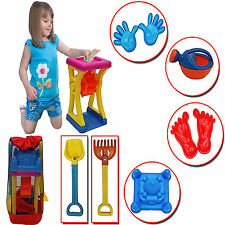 KIDS SAND WATER WHEEL MILL BEACH BACKPACK BAG CHILDREN LEARNING PLAY TOY SET