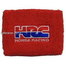 HRC HONDA CBR BRAKE RESERVOIR SOCKS FLUID TANK COVER RED 125 600RR 1000RR