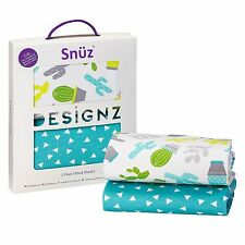 Snuz Baby Nursery Sleeping SnuzPod Crib Fitted Sheet - Twin Pack - Rootin Tootin