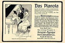 Metrostyle-Erfindung * Das Pianola * Bilddokument von 1905