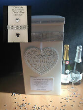 Personalised Wedding Post Box & Tissues Bundle - Bling/Diamantes
