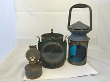 WW2 Wakefields 1945 3 Aspect Military Railway Signal Oil Kerosene Lamp War Dept