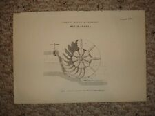 ANTIQUE EQUIPMENT DEVICE PRINT WATER WHEEL SCIENCE NR