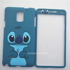 Cute Disney Blue Stitch Fullbody front back cover case for Samsung galaxy note4