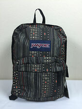 2016 Jansport Superbreak Backpack DOWN TOWN BROWN CAMO STRIPE AUTHENTIC School