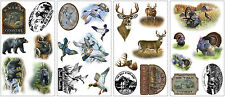 New BEARS DEER TURKEYS WALL DECALS Animals Stickers Hunting Room Decorations