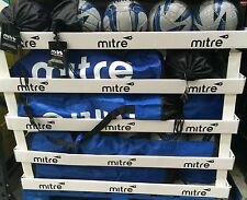 4 x Mitre Match Quality Football Pack Size 5 with Pump / Training Balls + Bag
