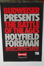 Boxing Poster: Evander Holyfield v George Foreman, Budweiser