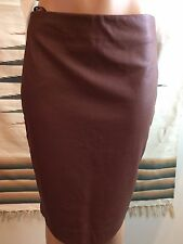 The Limited High Waist Faux Leather Pencil Skirt Sz~10 Mint Condition Brown