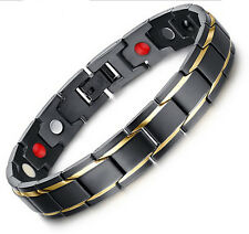 Birthday Gifts Stainless Steel Magnetic Therapy Jewelry Men's Bracelet 8.66''