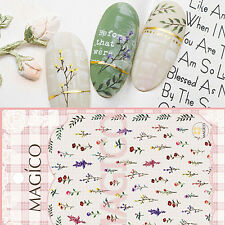 Adhesive 3D Nail Stickers Small Flowers Leaves Decal Manicure Nail Art Stickers