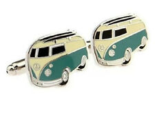 VW CAMPERVAN CUFFLINKS CUFF LINKS TYPE 2 VOLKSWAGEN SPLIT SCREEN