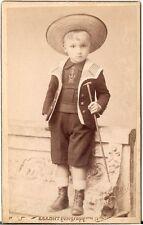 CDV photo Niedlicher kleiner Junge - Wien 1890er
