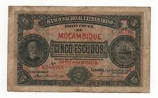 MOZAMBIQUE PORTUGAL 5 ESCUDOS 1921 PICK 68 A LOOK SCANS