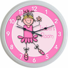 Ballet Ballerina Dance Custom Personalized Wall Clock Girl Studio New 10""
