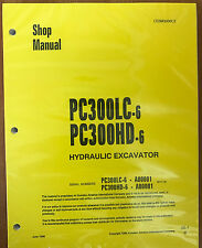 Komatsu PC300HD-6, PC300LC-6 Service Repair Printed Manual