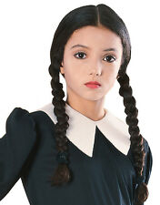 Addams Family Costume Wig, Kids Wednesday Girl Wig