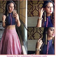 New Designer Pink & Blue Digital Print Bollywood Style Designer Lehenga choli