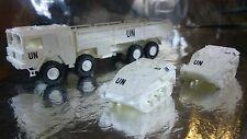 ** Minitank 634 UN LKW MAN 454 lorry and 2 x Wesel Vehicles 1:87 HO Scale