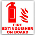 Fire Extinguisher ON BOARD-Vehicle,Car,Bus,Cab,Taxi/Minicab Sticker-Safety Sign