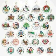 Lotsa Christmas Ornaments Cross Stitch Kit - Janlynn - Set of 30 Designs