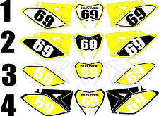 2010-2015 Suzuki RMX 450Z RMX450 Z  Number Plates Side Panels Graphics Decal