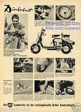NSU Lambretta Roller XL Reklame von 1952 Werbung ad