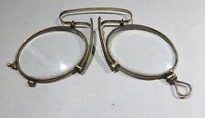 Lunettes en laiton ou plaquée or  ancienne