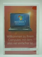 Microsoft Windows 7 Professional Pro 64 Bit SP1 Vollversion Deutsch