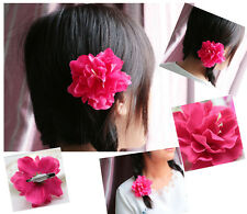 NEW Fashion Bridal Hair Accessory Hairpin Silk Flower Hair Clip Rose red colour