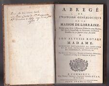 LIGNIVILLE  Généalogie de la Maison de LORRAINE Leslie Pont à Mousson 1743
